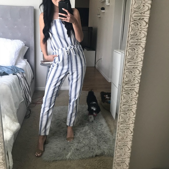 50d82155827 CISONO Pants - Adorable Striped Jumpsuit (dog not Included 😂)